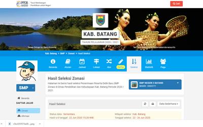Jurnal Sementara PPDB Online SMP Negeri 2 Batang
